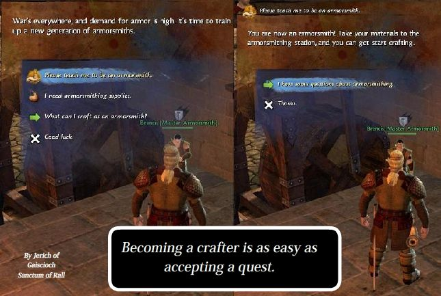 Becoming a Crafter is as Easy as Selecting a Quest