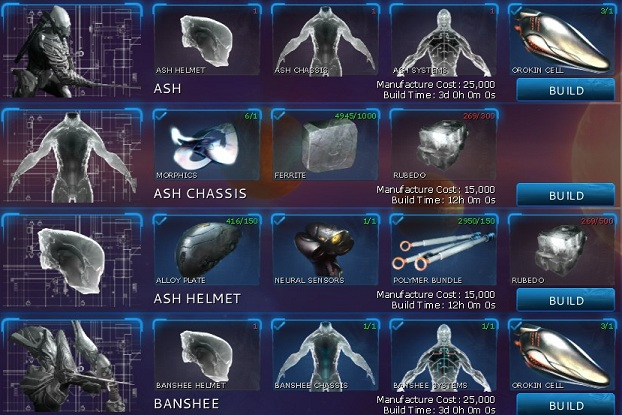 warframe components