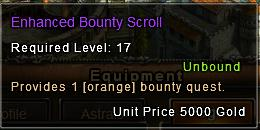 Bounty scroll description