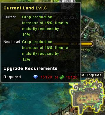Land upgrade