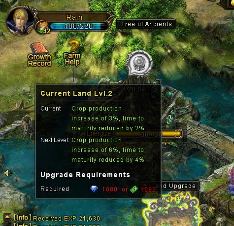 upgrade land