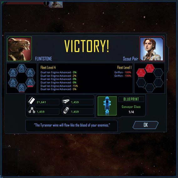 End of Battle Screen