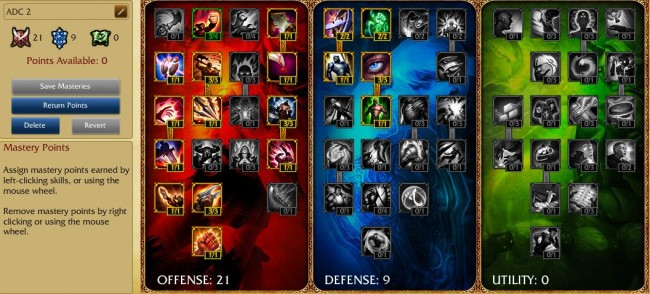 Caster ADC 1 Masteries