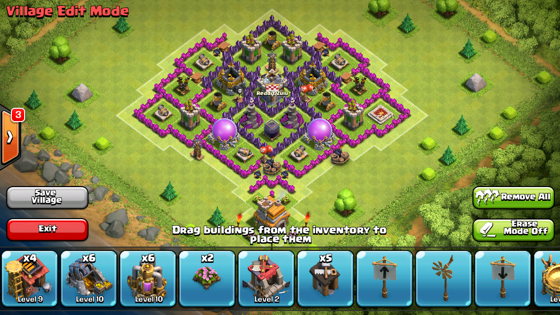 Clash of Clans Stingray TH7 Farming Base Design | GuideScroll