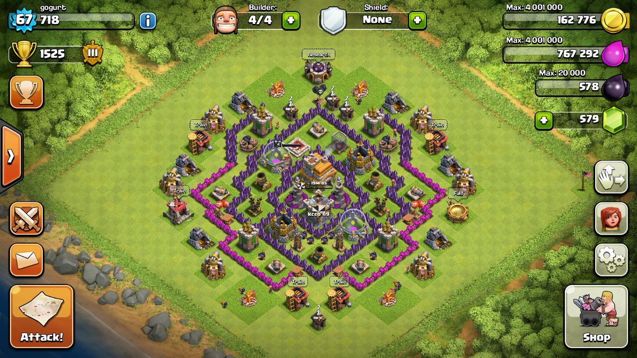 Clash of clans th7 farming base design guidescroll