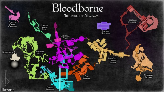 Bloodborne Complete Map