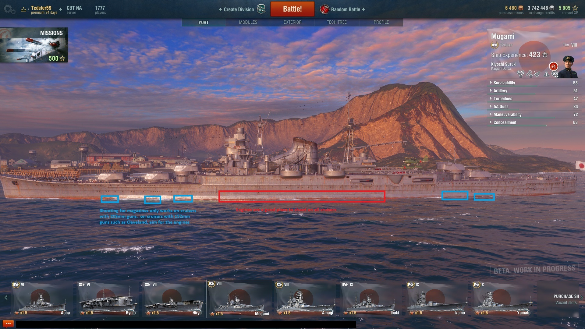 world of warship how to hit citadel