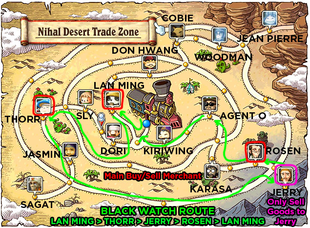 Nihal Desert Trade Zone Map