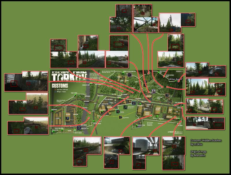 Escape From Tarkov Maps Complete Compilation Guidescroll